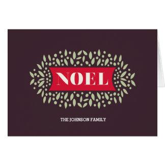 all around noel greeting card