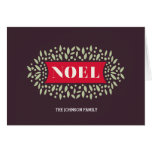 all around noel greeting card