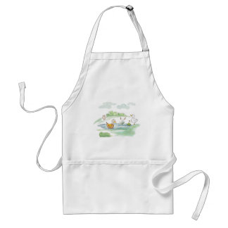 All Around the Barnyard - Ducks by Serena Bowman Adult Apron