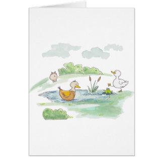 All Around the Barnyard - Ducks by Serena Bowman Card