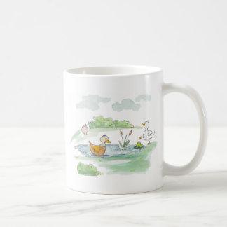 All Around the Barnyard - Ducks by Serena Bowman Coffee Mug