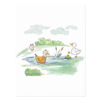 All Around the Barnyard - Ducks by Serena Bowman Postcard