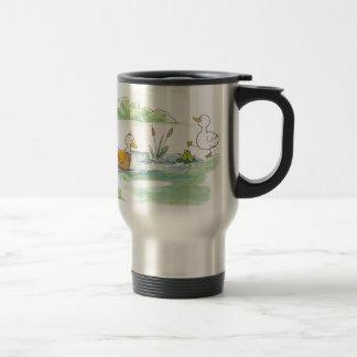 All Around the Barnyard - Ducks by Serena Bowman Travel Mug