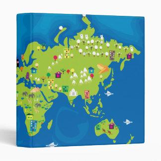 All Around the World 3 Ring Binder
