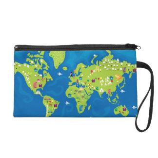 All Around the World Wristlet Clutch