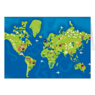 All Around the World Greeting Card