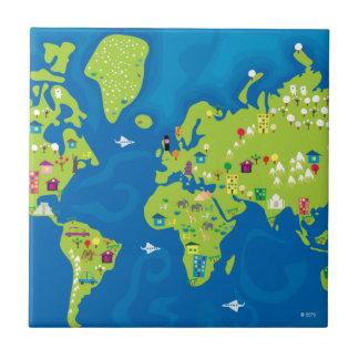All Around the World Ceramic Tile