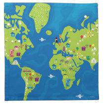 All Around the World Napkin