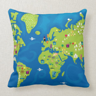 All Around the World Pillow