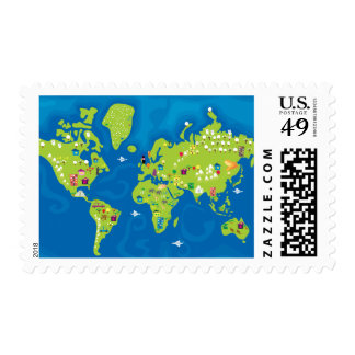 All Around the World Postage Stamps