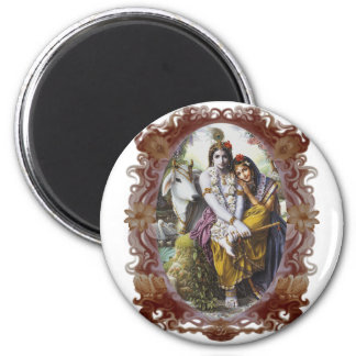 All-Attractive Couple 2 Inch Round Magnet