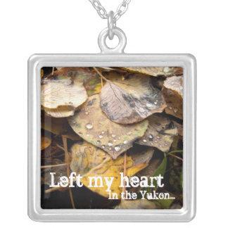 ALL Autumn Leaf Litter Square Pendant Necklace