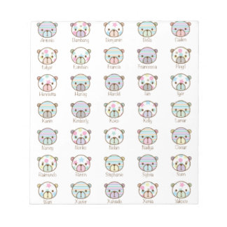 All bears are best friends (pattern) notepad