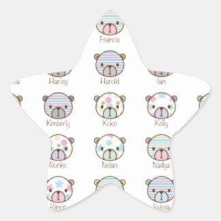 All bears are best friends (pattern) star sticker