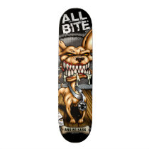chihuahua, attitude, dog, fear, shirt, blood, bite, bone, evil, cartoon, beer, saying, chiwawa, chiwahwah, chiwawah, skate, skateboard, a little twisted..., Skateboard with custom graphic design