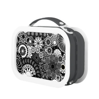 All Black and White Lunchbox