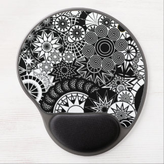 All Black And White Mouse Pad Gel Mouse Pad