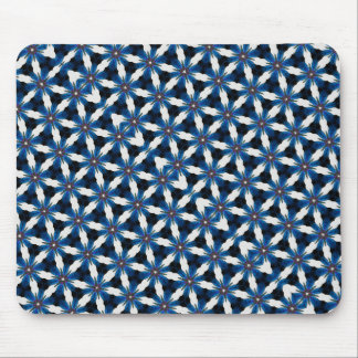 All Black & Blue & White Mouse Pad