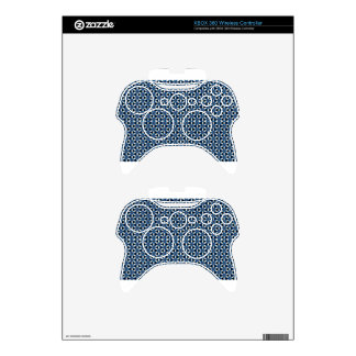 All Black & Blue & White Xbox 360 Controller Decal