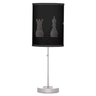 All black one white, chess pieces desk lamp