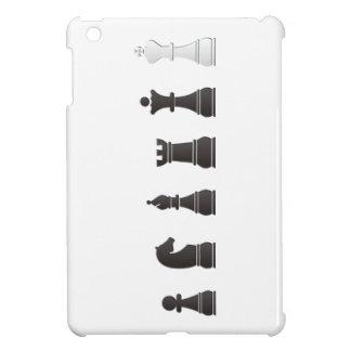 All black one white chess pieces iPad mini cases