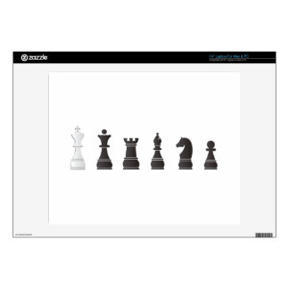 """All black one white, chess pieces skins for 14"""" laptops"""