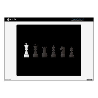 All black one white, chess pieces skins for laptops