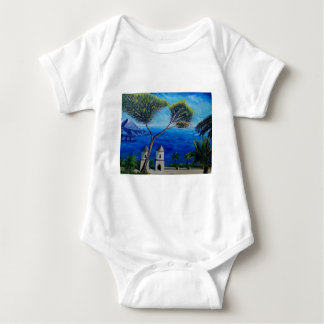 All Blue on Amalfi Coast in Italy Baby Bodysuit
