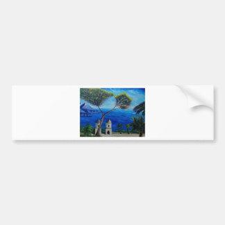 All Blue on Amalfi Coast in Italy Bumper Sticker