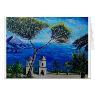 All Blue on Amalfi Coast in Italy Greeting Card