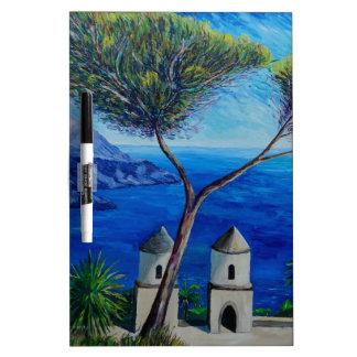 All Blue on Amalfi Coast in Italy Dry Erase Whiteboards