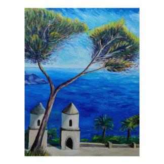 All Blue on Amalfi Coast in Italy Custom Letterhead