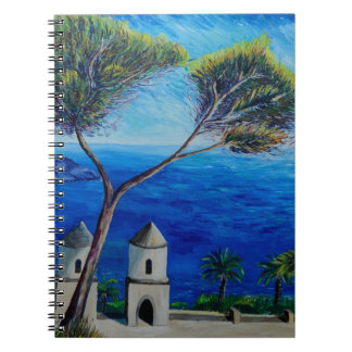 All Blue on Amalfi Coast in Italy Notebooks