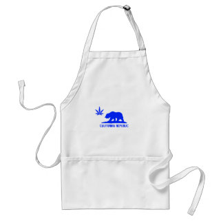 All Blue Weed CA Adult Apron