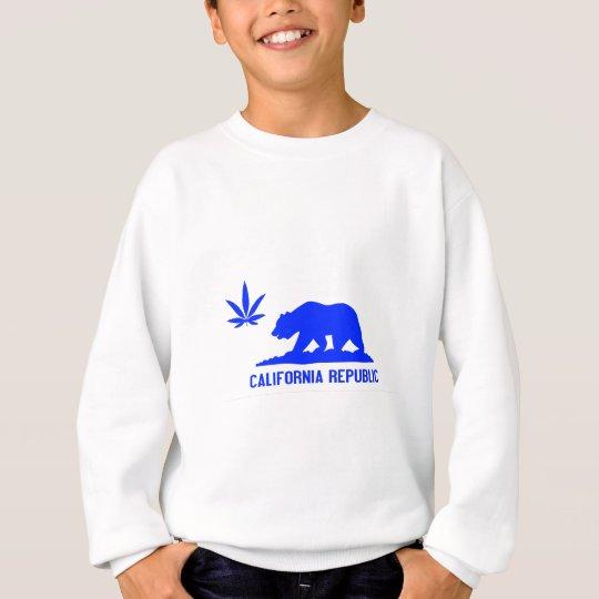 All Blue Weed CA Sweatshirt
