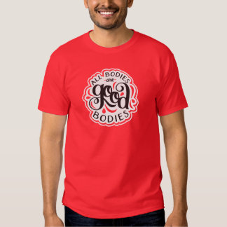 All Bodies are Good Bodies Unisex Red Tee