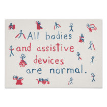 """All bodies are normal"" disability poster"