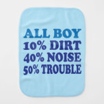 All Boy Baby Burp Cloth
