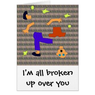 all broken up card