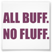 All Buff No Fluff Fat Hamster Commercial Photo Print