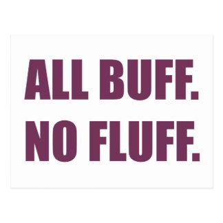 All Buff No Fluff Fat Hamster Commercial Postcard