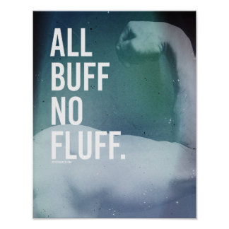 All buff No fluff -   Guy Fitness -.png Poster
