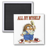 All By Myself 2 Inch Square Magnet