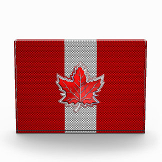 All Canadian Red Maple Leaf on Carbon Fiber Print Award
