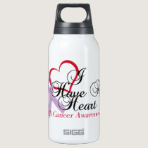 All Cancer Awareness I Have A Heart Insulated Water Bottle