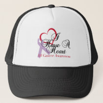 All Cancer Awareness I Have A Heart Trucker Hat