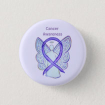 All Cancer Awareness Lavender Ribbon Pin Buttons