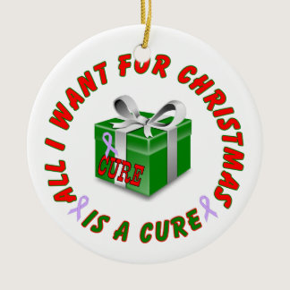 All Cancer Awareness Ribbon Christmas Ornament