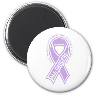all cancers I can do all things 2 Inch Round Magnet