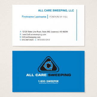 All Care Sweeping - Job Title Business Card